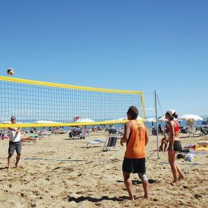 Team Beach volley zand